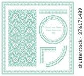 vintage frame pattern set 094... | Shutterstock .eps vector #376171489