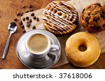 Fresh Doughnut And Cookies Wit...