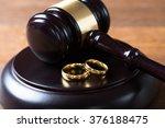 Closeup Of Wedding Rings On...