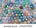 dirty used colored plastic...   Shutterstock . vector #376197901