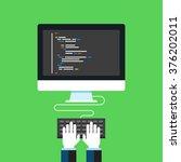 programming and coding  website ... | Shutterstock .eps vector #376202011