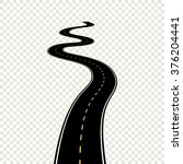 curved winding road map with... | Shutterstock .eps vector #376204441