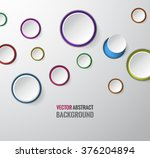 abstract 3d white circle round... | Shutterstock .eps vector #376204894