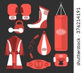 fighting and boxing equipment   Shutterstock .eps vector #376214191