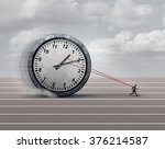 time burden business concept as ... | Shutterstock . vector #376214587