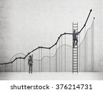 two businessmen drawing graphs... | Shutterstock . vector #376214731