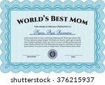 world's best mother award... | Shutterstock .eps vector #376215937