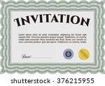 retro invitation template.... | Shutterstock .eps vector #376215955