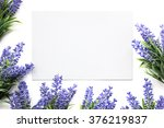 Mockup With Artifical Lavender...