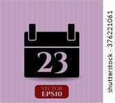 calendar symbol | Shutterstock .eps vector #376221061