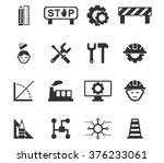 engineering symbol icons set... | Shutterstock .eps vector #376233061