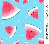 watermelon pattern | Shutterstock . vector #376234129