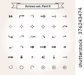 vector big set arrows  in flat... | Shutterstock .eps vector #376243474