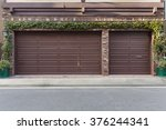 ivy on the wall of three car... | Shutterstock . vector #376244341