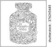 decorative vintage flowers... | Shutterstock .eps vector #376245685