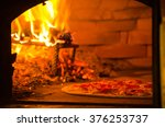 Thin Crust Pizza Baking In Wood ...