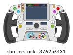 vector illustration of steering ... | Shutterstock .eps vector #376256431
