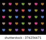 abstract hearts | Shutterstock . vector #376256671