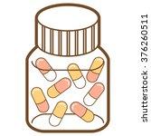 bottle for tablets  pastel... | Shutterstock .eps vector #376260511