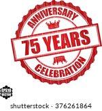 75 years anniversary... | Shutterstock .eps vector #376261864