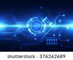abstract digital circuit... | Shutterstock .eps vector #376262689