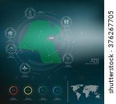 kuwait  map infographic | Shutterstock .eps vector #376267705