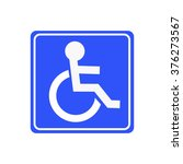 disabled handicap icon | Shutterstock .eps vector #376273567
