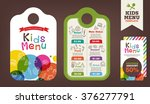 cute colorful kids meal menu...