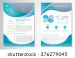 vector brochure flyer design... | Shutterstock .eps vector #376279045