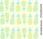 abstract  cute pineapple ... | Shutterstock .eps vector #376283269