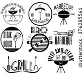 set bbq  barbeque  grill ... | Shutterstock .eps vector #376285561