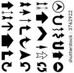 set of 28 arrow shapes in... | Shutterstock . vector #3762922