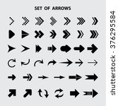 arrow icon set of arrows | Shutterstock .eps vector #376295584