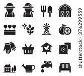 farming icons | Shutterstock .eps vector #376299559