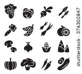 vegetable icon set 2 | Shutterstock .eps vector #376302847