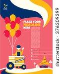 carnival theme magazine layout... | Shutterstock .eps vector #376309399
