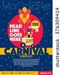 carnival theme magazine... | Shutterstock .eps vector #376309414