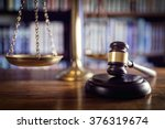 judge gavel  scales of justice... | Shutterstock . vector #376319674