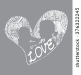 mother and son stylized vector... | Shutterstock .eps vector #376322245