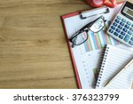 desk office business financial... | Shutterstock . vector #376323799