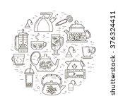 concept illustration of tea... | Shutterstock .eps vector #376324411