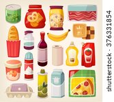 set of common goods and... | Shutterstock .eps vector #376331854