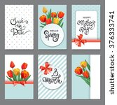 collection of brochures with... | Shutterstock .eps vector #376333741