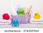 baby accessories for bathing | Shutterstock . vector #376335964