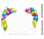 white oval paper banner with... | Shutterstock .eps vector #376336969