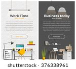 two banner for web design.... | Shutterstock .eps vector #376338961