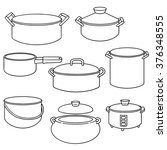 vector set of pot | Shutterstock .eps vector #376348555