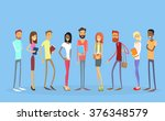 student group people holding... | Shutterstock .eps vector #376348579