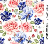seamless watercolor pattern... | Shutterstock . vector #376348819