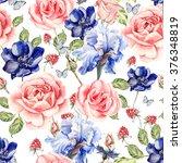 seamless watercolor pattern... | Shutterstock . vector #376348819